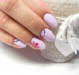 Manicure hybrydowy w kolorze
