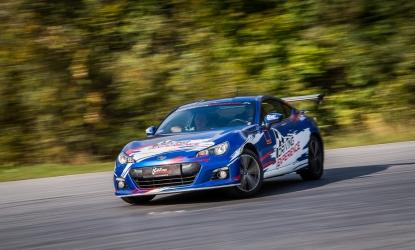 Drifting Subaru BRZ