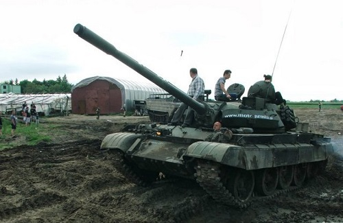 jazda czołgiem T-55 Merida